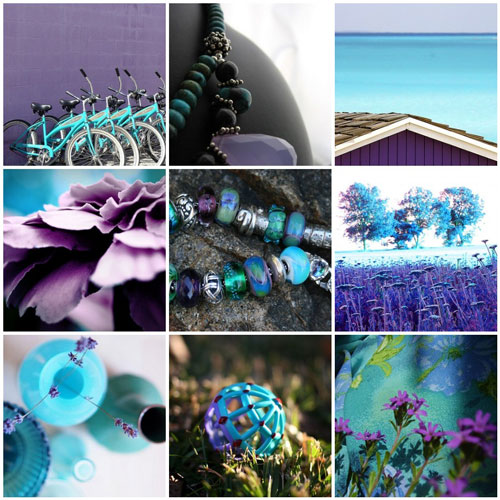 Mauve&turquoise